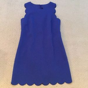 Scalloped cobalt blue summer dress